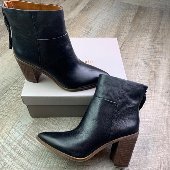 Franco Sarto Black Leather Marmalade